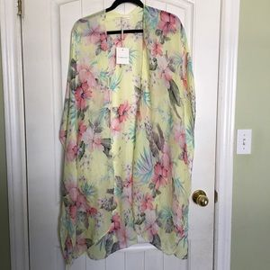NWT Sweet Light Floral Wrap Style Cover Up